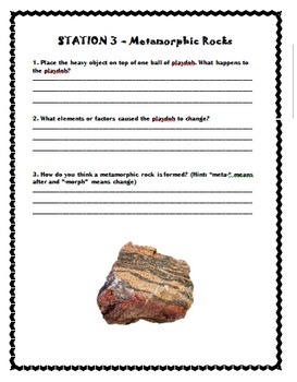 Three Types of Rocks- Science Stations
