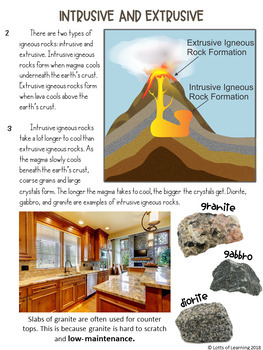 Three Types of Rocks Writing Prompt with Mentor Texts CCSS.ELA-LIT.W.4.2