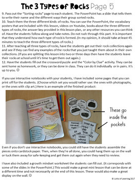 Three Types of Rocks and The Rock Cycle Lesson Plans BUNDLE
