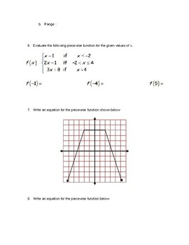 Three Variable Systems and Piecewise Functions Quiz