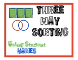 Three Way Sorting with Names