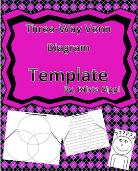 Three-Way Venn Diagram Graphic Organizer Template (Differentiated)