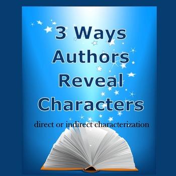 Three Ways Authors Reveal Characters Google Drive Digital Resource