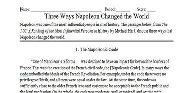 Three Ways Napoleon Changed the World Activity