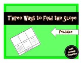 Three Ways to Find the Slope Foldable
