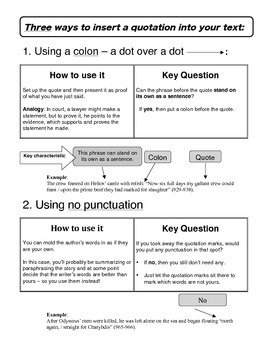 Three Ways to Insert a Quotation into Your Text