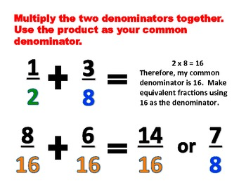 Three Ways to Make Common Denominators - Classroom Posters