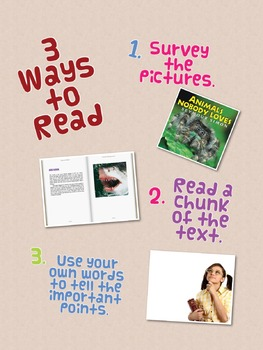 Three Ways to Read a Text Anchor Chart