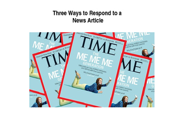 Three Ways to Respond to a News Article