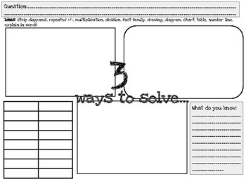 Three Ways to Solve it.