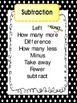 Math Word Wall Vocabulary Words