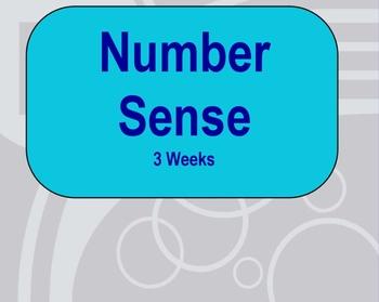 Three Week Number Sense Unit