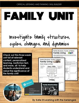 Three Week Unit: Family Structures, Cycles, Dynamics