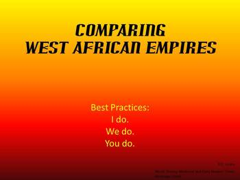 Three West African Empires Graphic Organizer PowerPoint