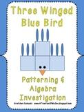 Three-Winged Blue Bird Math Patterning and Algebra Activity