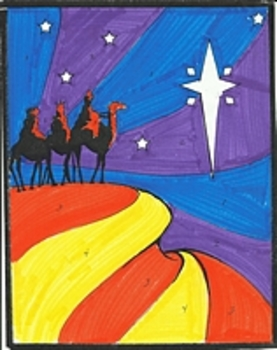 Three Wisemen Color by Number