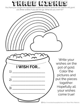 Three Wishes: St. Patricks Day Coloring