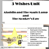 Three Wishes Unit: Aladdin and the Magic Lamp and The Monkey's Paw, PDF