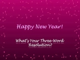 Three-Word New Year's Resolutions