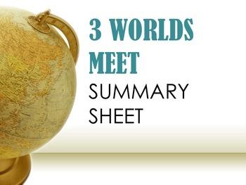 Three Worlds Meet Summary Sheets