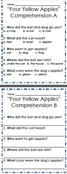 """""""Three Yellow Apples"""" Pre-Primer and Primer Reader"""