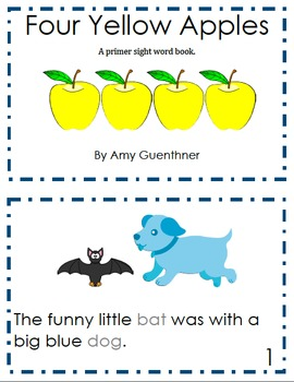 """Three Yellow Apples"" Pre-Primer and Primer Reader"