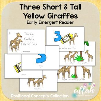Three Yellow Giraffes Early Emergent Reader (Short & Tall) - BUNDLE