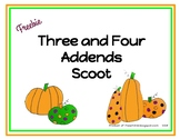 Three and Four Addends Scoot
