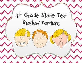 Three days of Test Prep Centers for 4th Grade Math