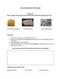Three different Rock Types Adapted lab (starburst experiment)