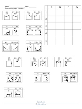 Three-digit Addition Activity Worksheet