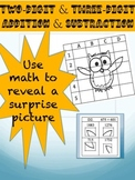 Three-digit Addition and Subtraction Activity Worksheet (14 questions)