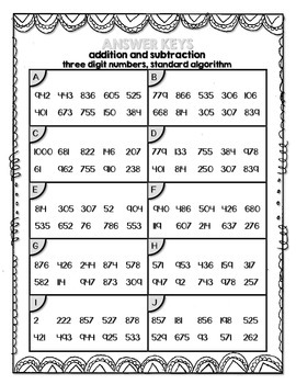 Three-digit Addition and Subtraction within 1000