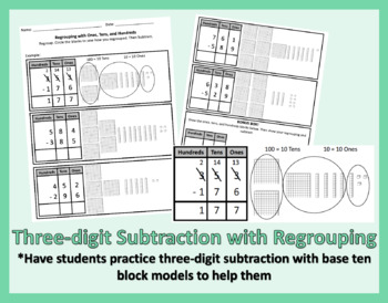 Three-digit Subtraction with Regrouping
