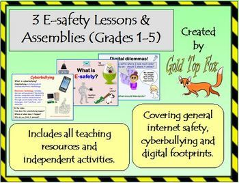 Three e-safety lessons for Grades 1-5