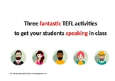 Three free ESL/EFL role plays and speaking practices for t