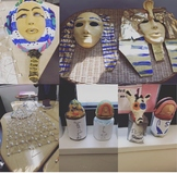 Three great ancient Egypt projects on pyramids, canopic jars and death masks