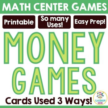 Matching and Comparing Money Game Cards