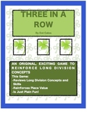 Three in a Row!  A Fun & Engaging Long Division Game for 3rd - 6th Grade