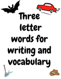 Three letter words for writing and vocabulary - Learn to write