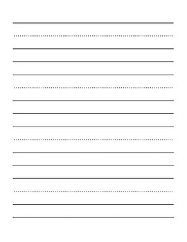 Three lined writing sheet