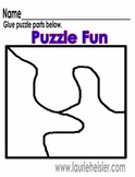 Three part learn to cut phonic puzzles