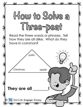 Three-peat Puzzlers