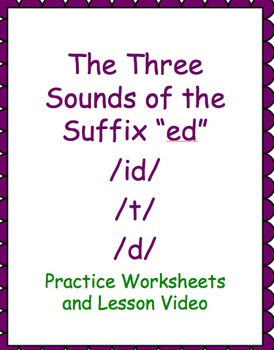"""Three Sounds of """"ed"""" Video and Practice Activities"""