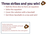 Three strikes and you win! (Addition and Subtraction game)