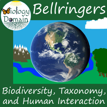 Three weeks of Biodiversity Bell Ringers Warm Ups with Answer Key