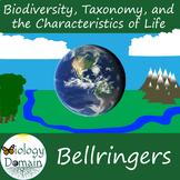 Three weeks of Biodiversity Bellringers Warm Ups with Answer Key