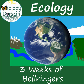 Three weeks of General Ecology Bell Ringers Warm Ups with Answer Key
