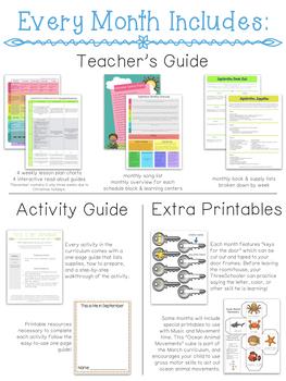 ThreeSchool Home Preschool Curriculum GROWING BUNDLE