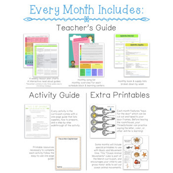 ThreeSchool Home Preschool Curriculum OCTOBER